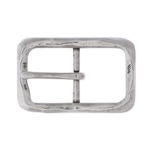 LUCA KAYZ Doppelschliesse Silber für Gürtel 3 cm