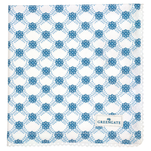 GreenGate Stoffserviette mit Spitze Lolly Blue