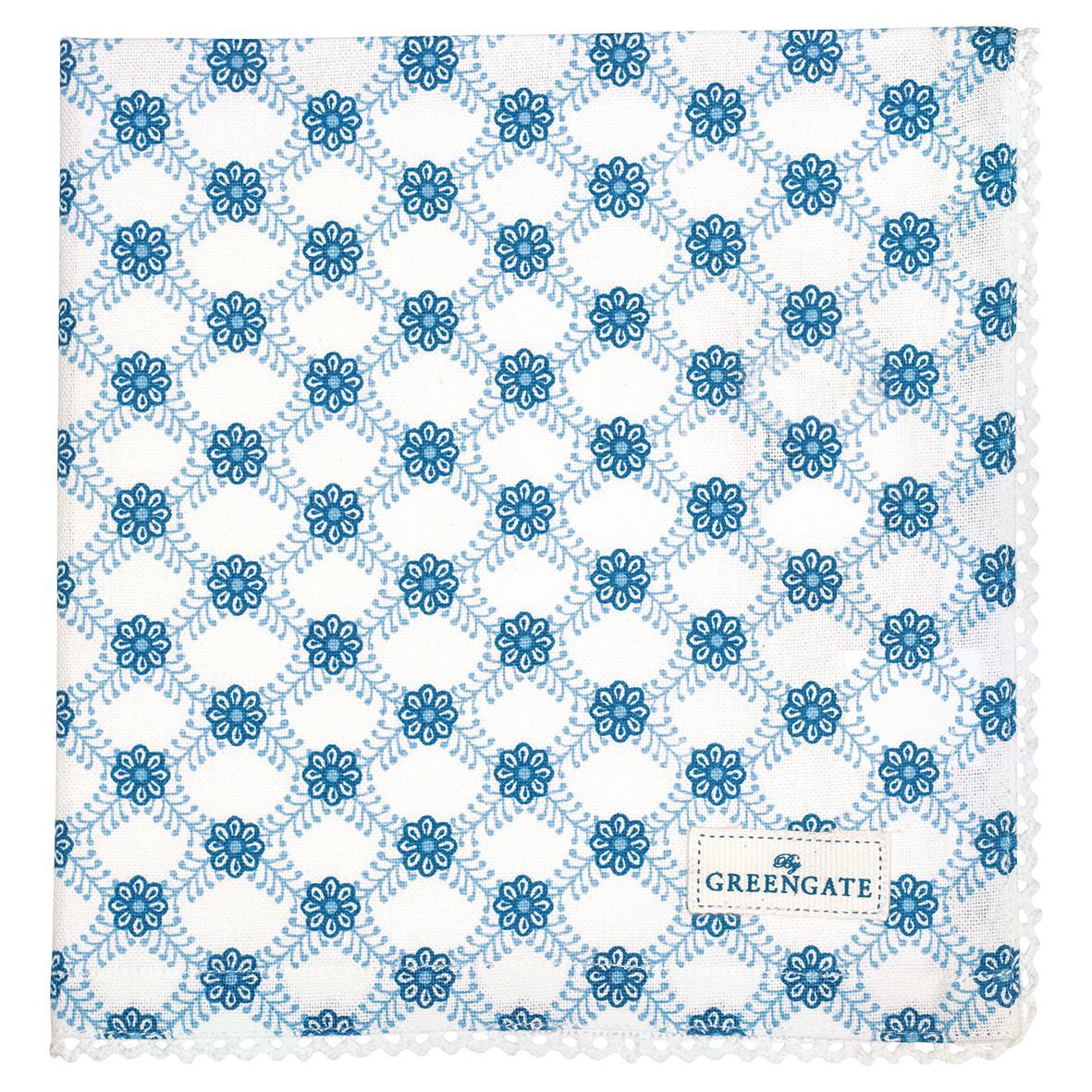 GreenGate Stoffserviette mit Spitze Lolly Blue