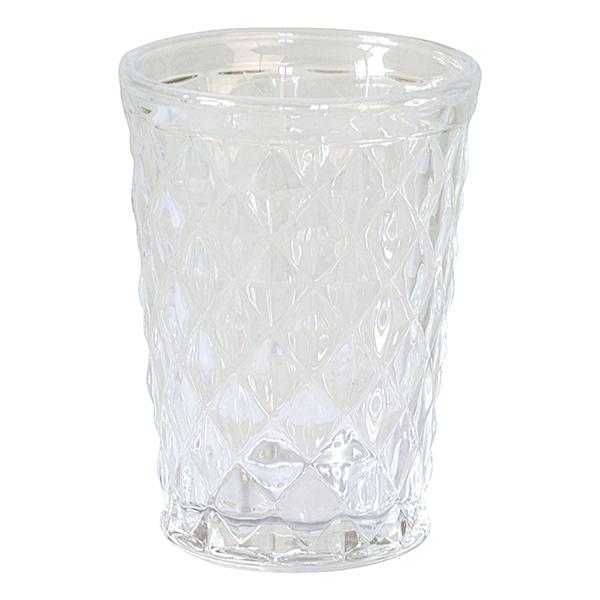 GreenGate Wasserglas mit Rautenschliff Klar