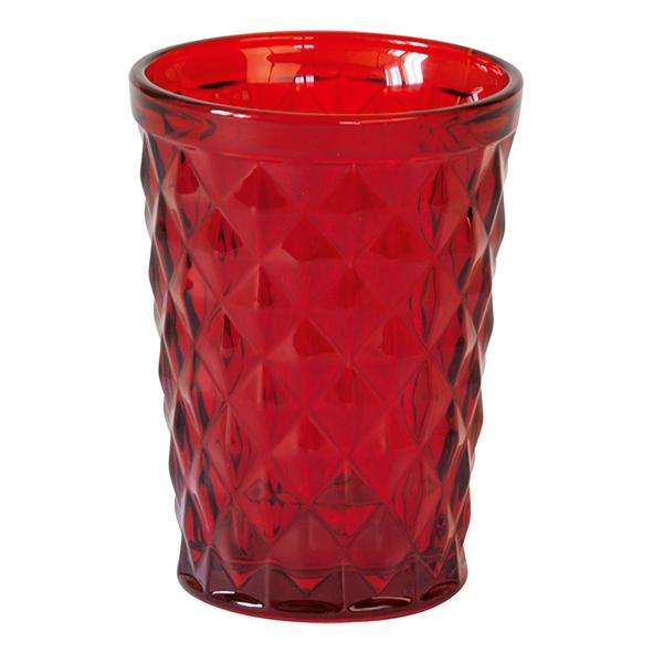 GreenGate Wasserglas Diamond Red