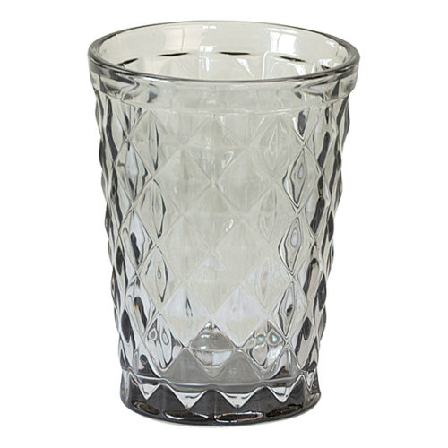 GreenGate Glas mit Rautenschliff Grey