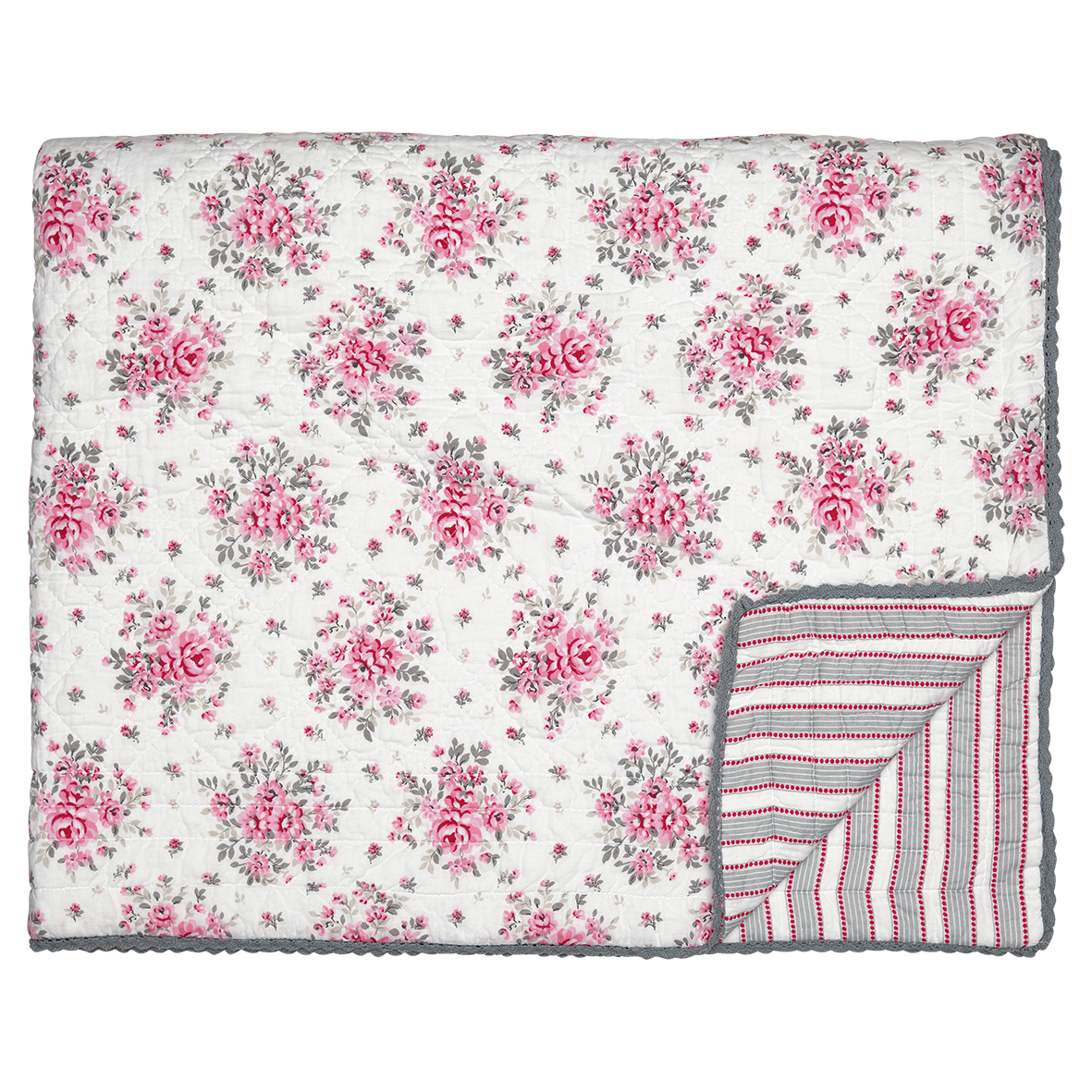 GreenGate Quilt Flora White