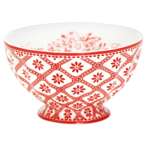 GreenGate French Bowl Bianca Red M