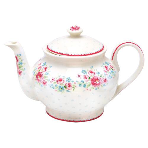 GreenGate Teekanne Tess White