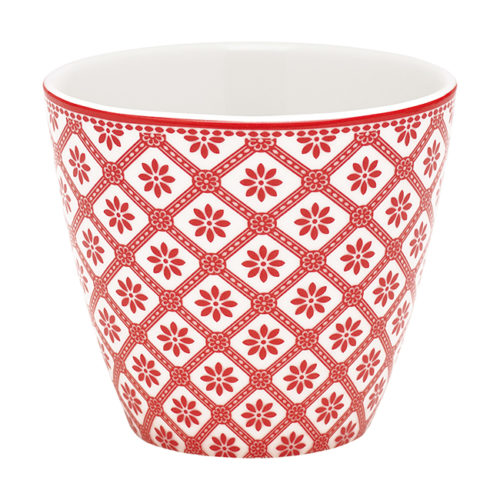 GreenGate Latte Cup Bianca Red