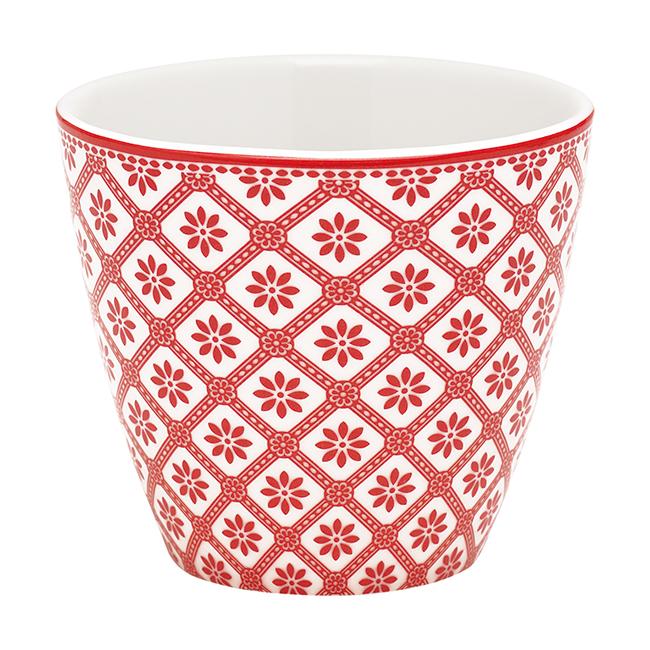 GreenGate Latte Cup Bianca Red