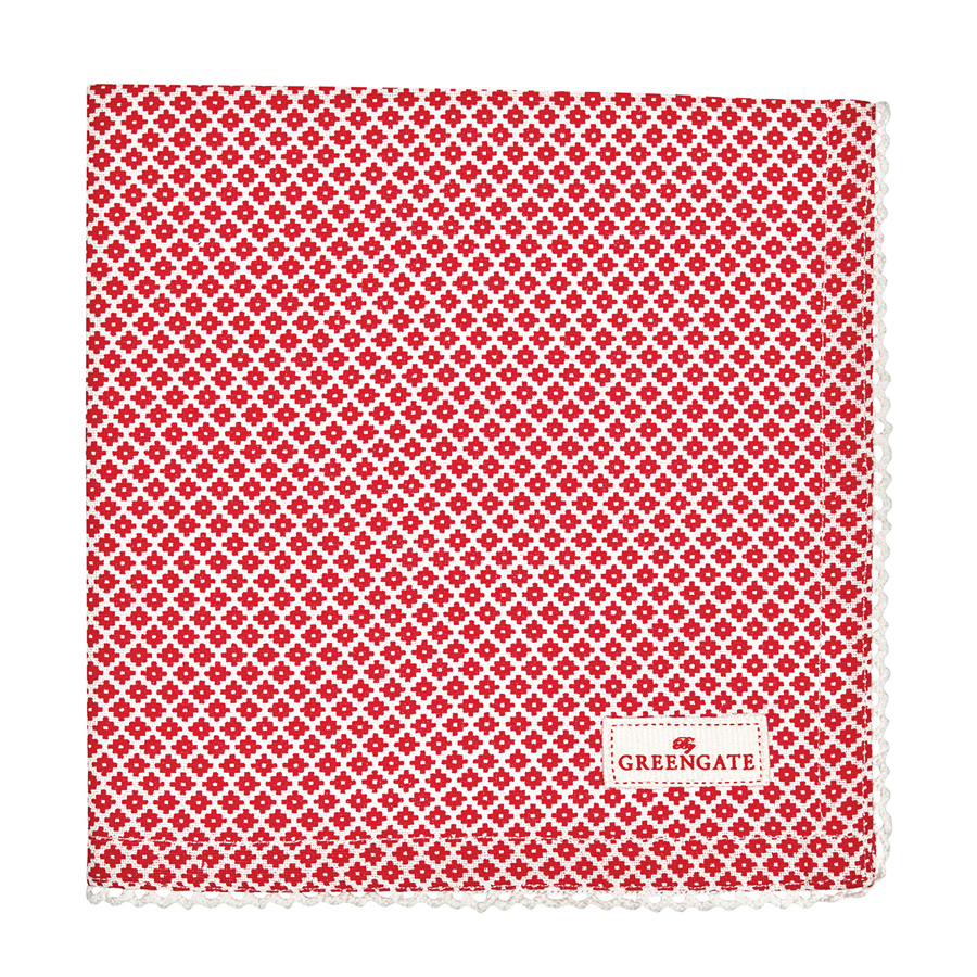 Greengate stoffserviette judy red