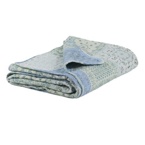 IB LAURSEN Patchwork Quilt Blau