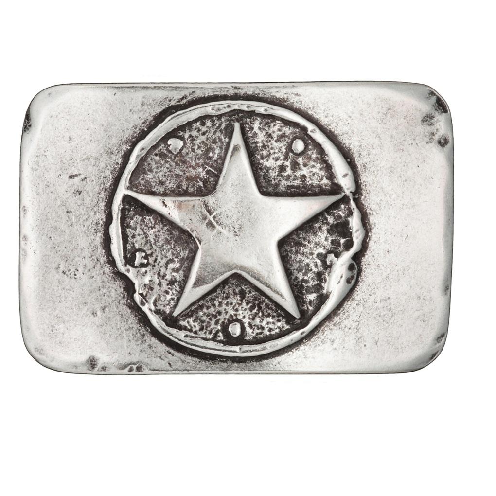 LUCA KAYZ Schließe Stern Silber für Gürtel 4 cm