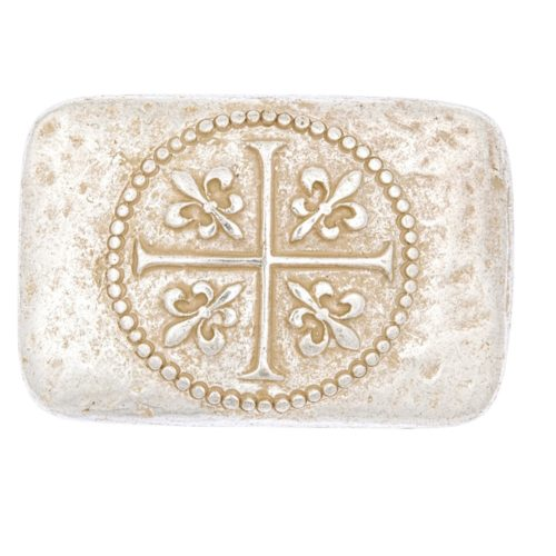 LUCA KAYZ Schließe Kreuz Used Gold für Gürtel 4 cm