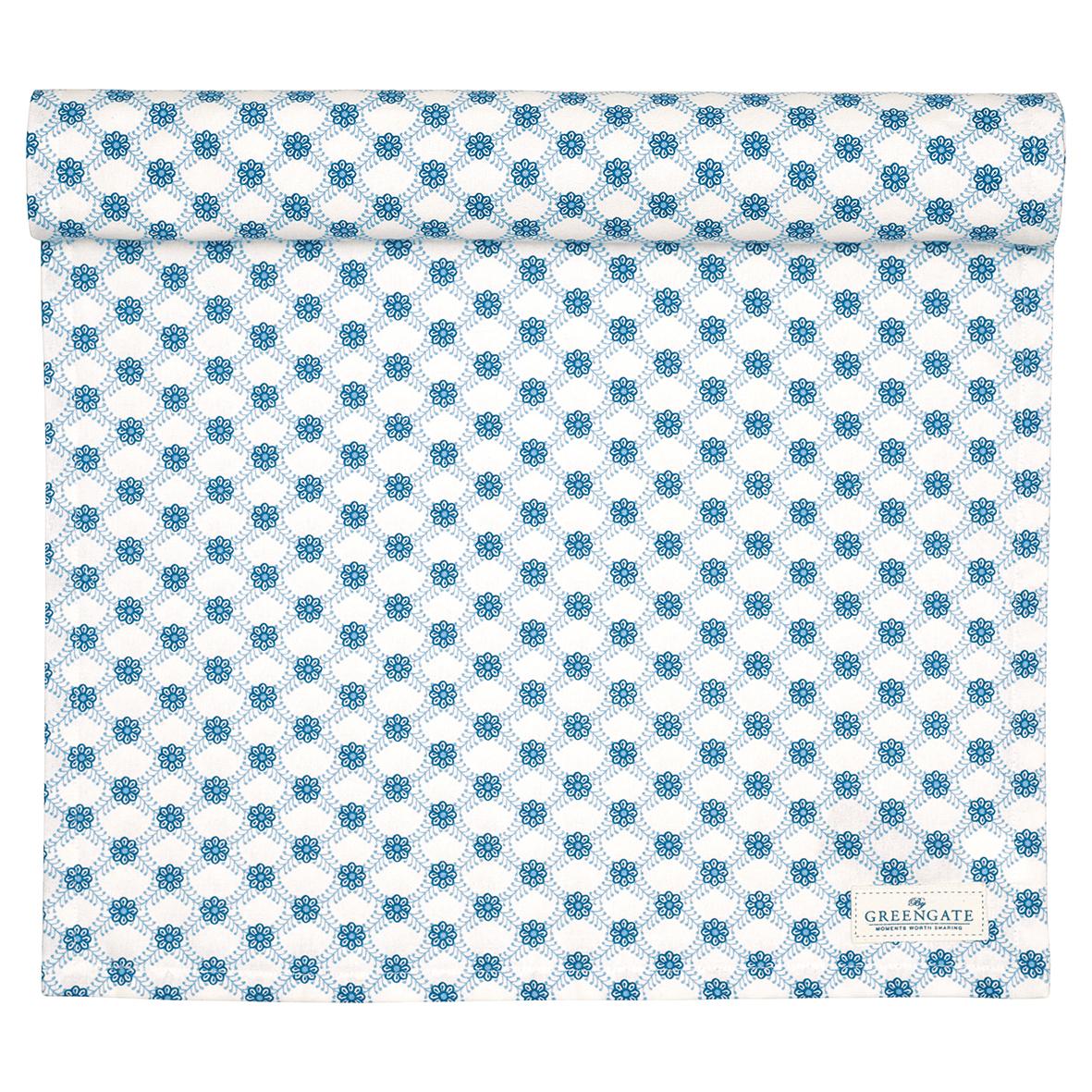 GreenGate Tischläufer Lolly Blue 40 x 140