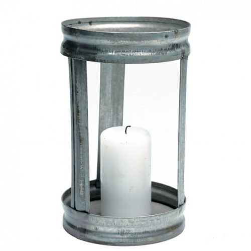 GREENGATE WINDLICHT HURRICANE IN ANTIQUE ZINK