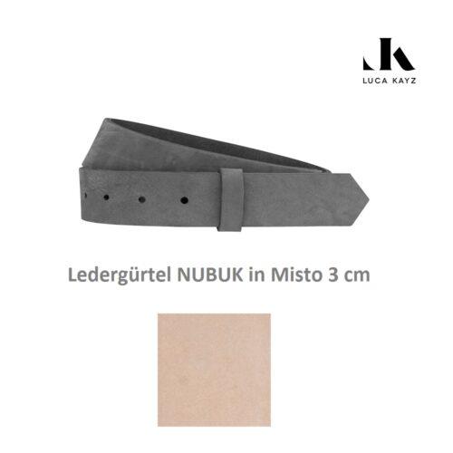 Luca Kayz Gürtel Nubuk Misto 3 cm