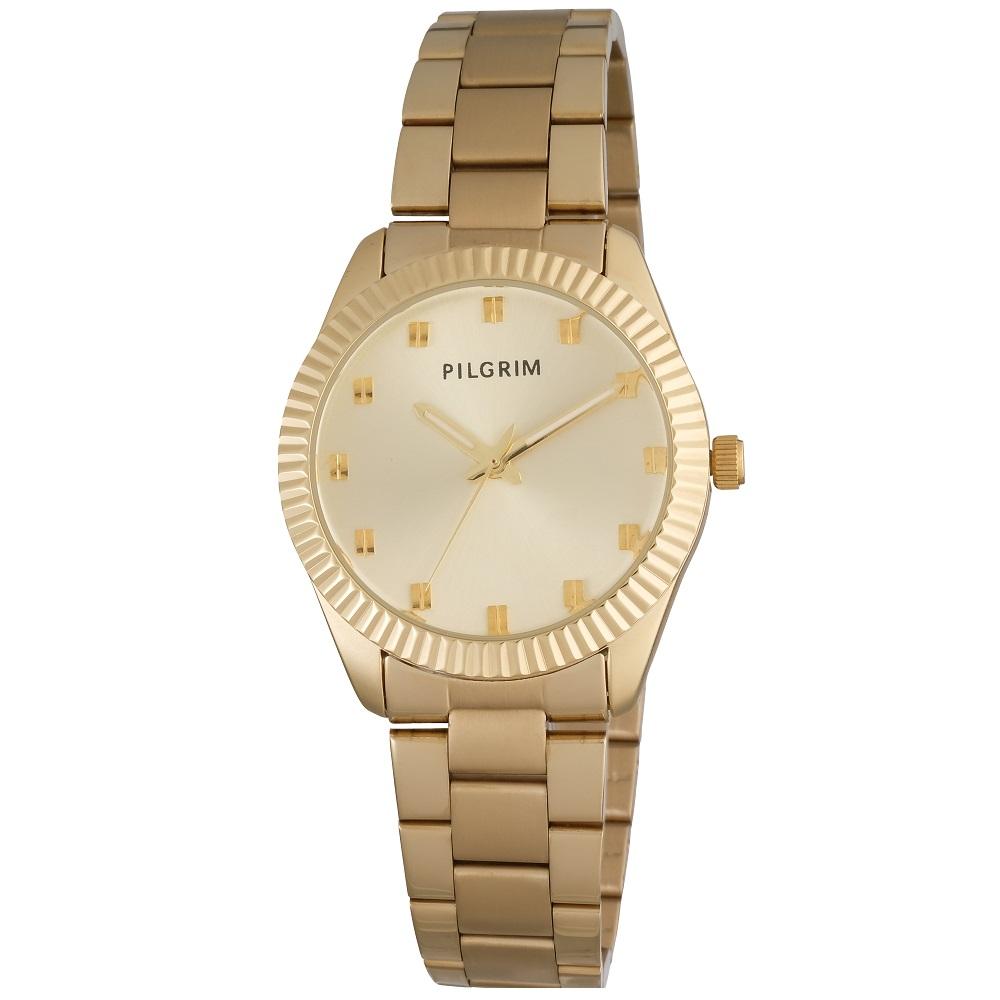 Pilgrim Uhr mit Gliederarmband Gold/Silber