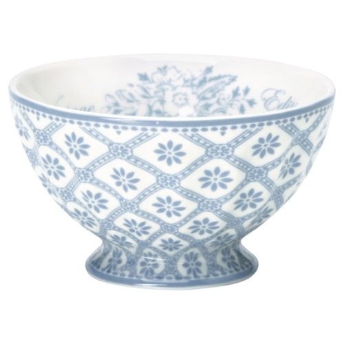 greengate french bowl bianca dusty blue m