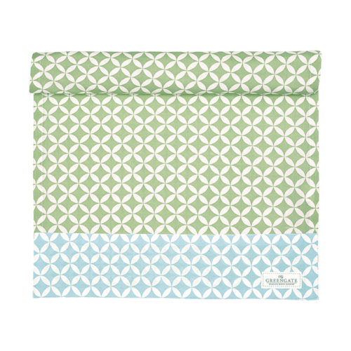 GreenGate Tischläufer Mai Green 45 x 140