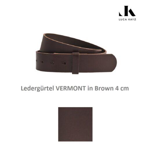 LUCA KAYZ Gürtel Vermont Brown 4 cm