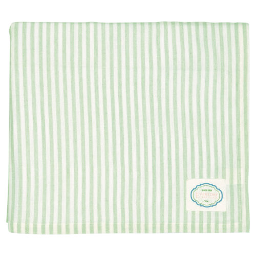 GreenGate Tischdecke Stripe Alice Pale Green 145x250