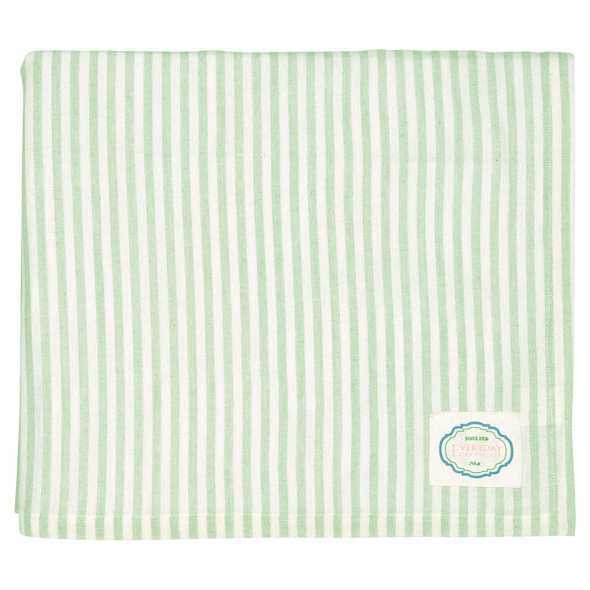 GreenGate Tischdecke Stripe Alice Pale Green 145x250