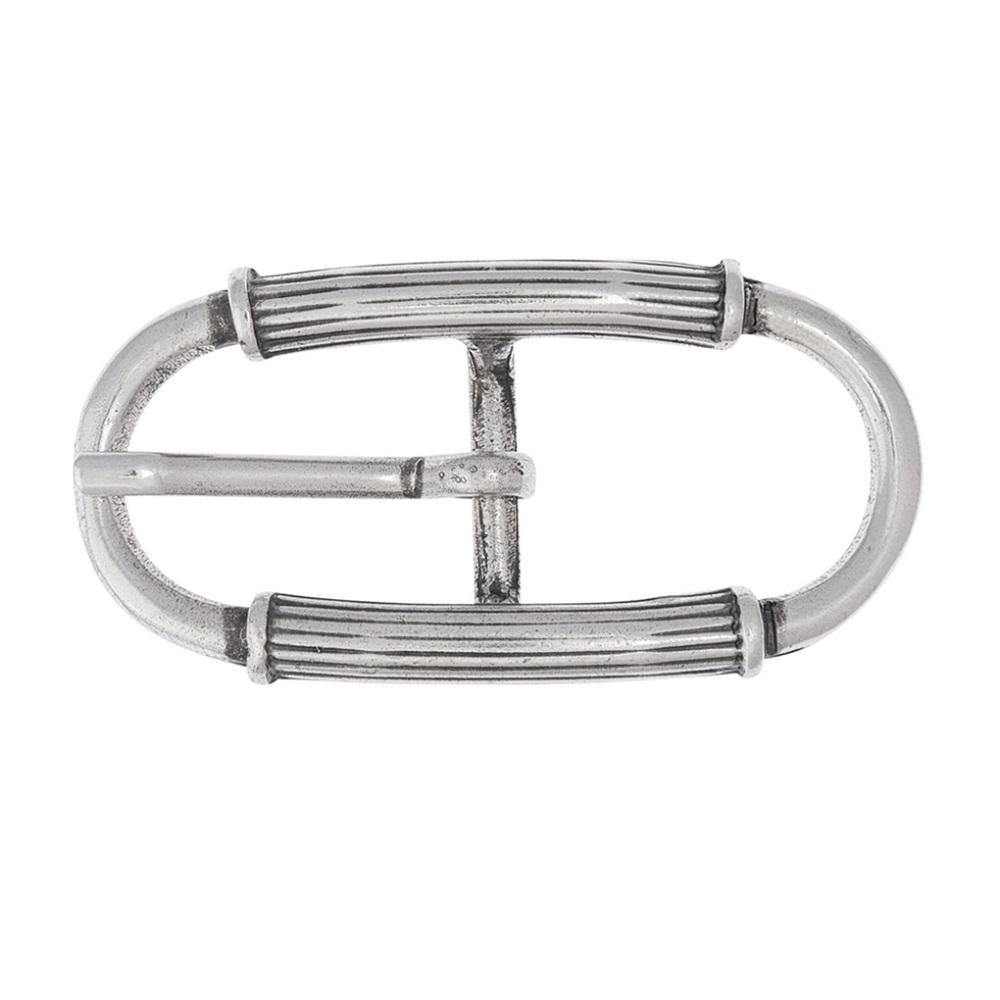 LUCA KAYZ Doppelschließe Silber für Gürtel 2 cm