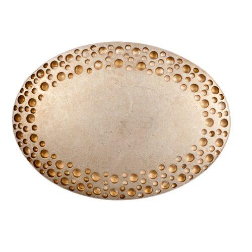 LUCA KAYZ Ovale Schließe Gold für Gürtel 4 cm