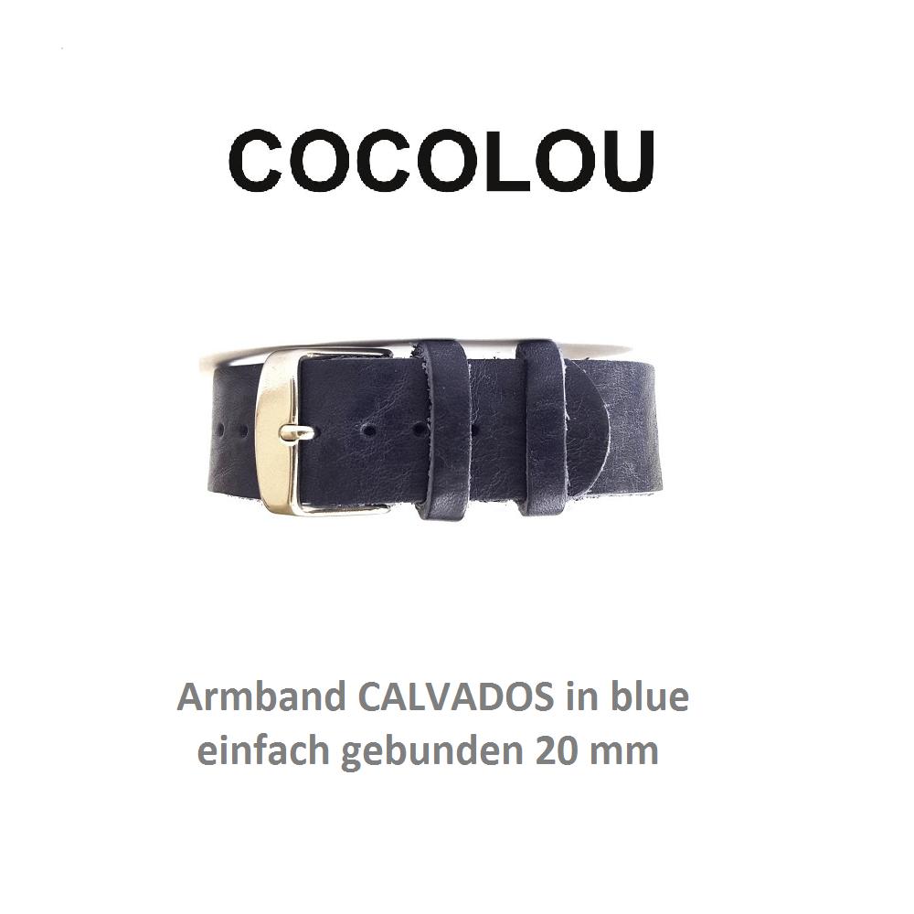COCOLOU Armband CALVADOS in Blue 2 cm