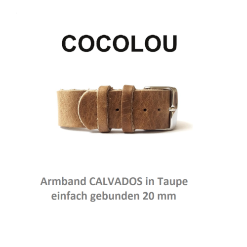 COCOLOU Armband CALVADOS in Taupe 2 cm