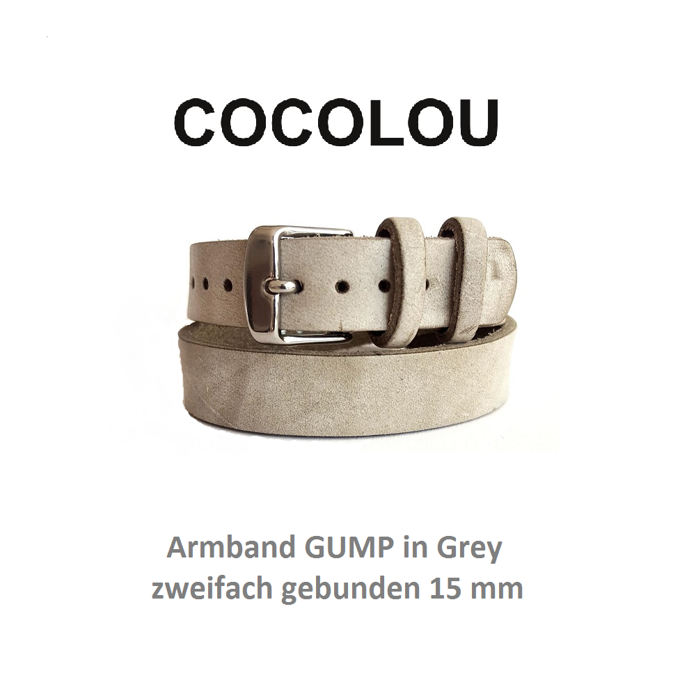 COCOLOU Armband GUMP in Grey