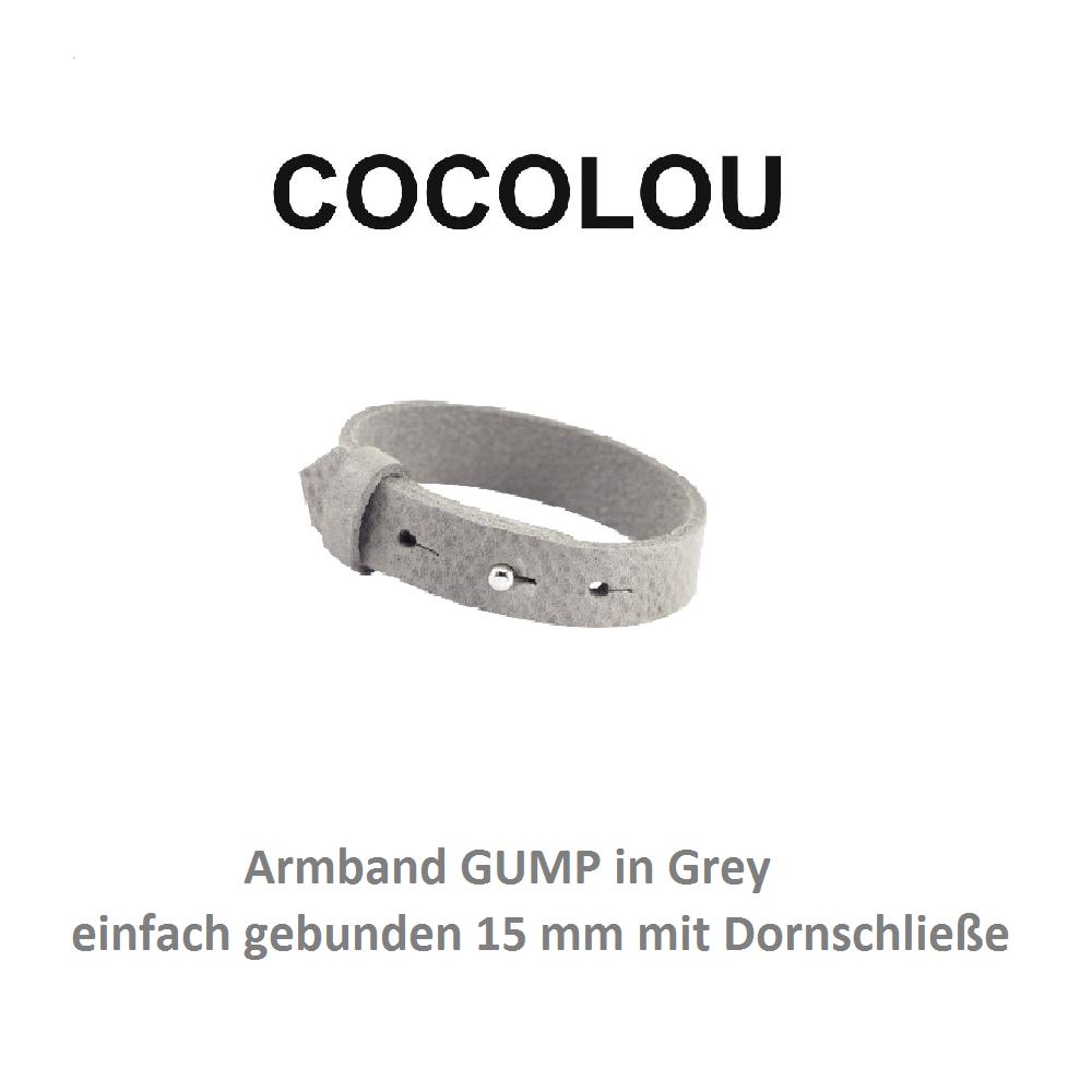 cocolou armband mit dornschließe gump grey