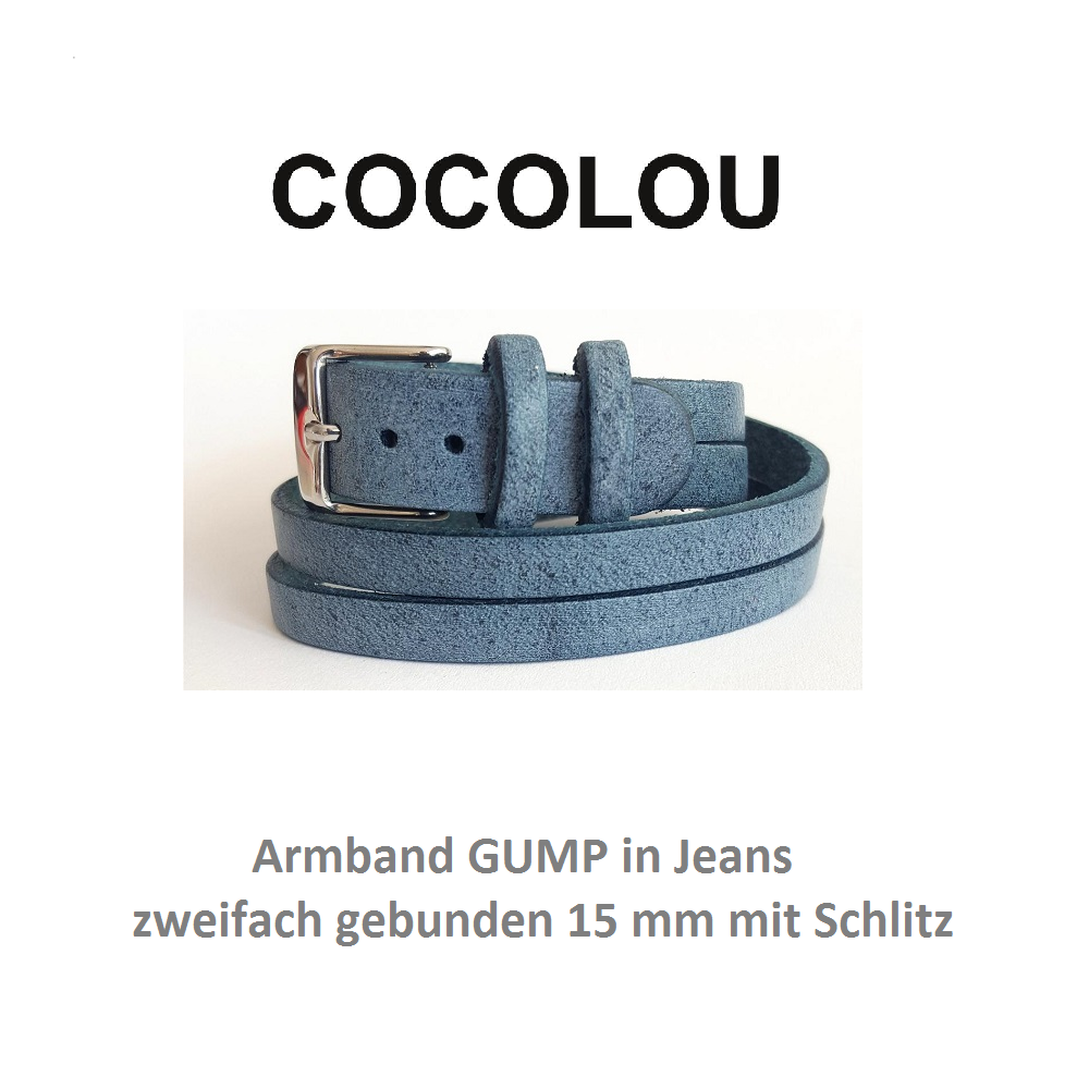 COCOLOU Armband GUMP in Jeans