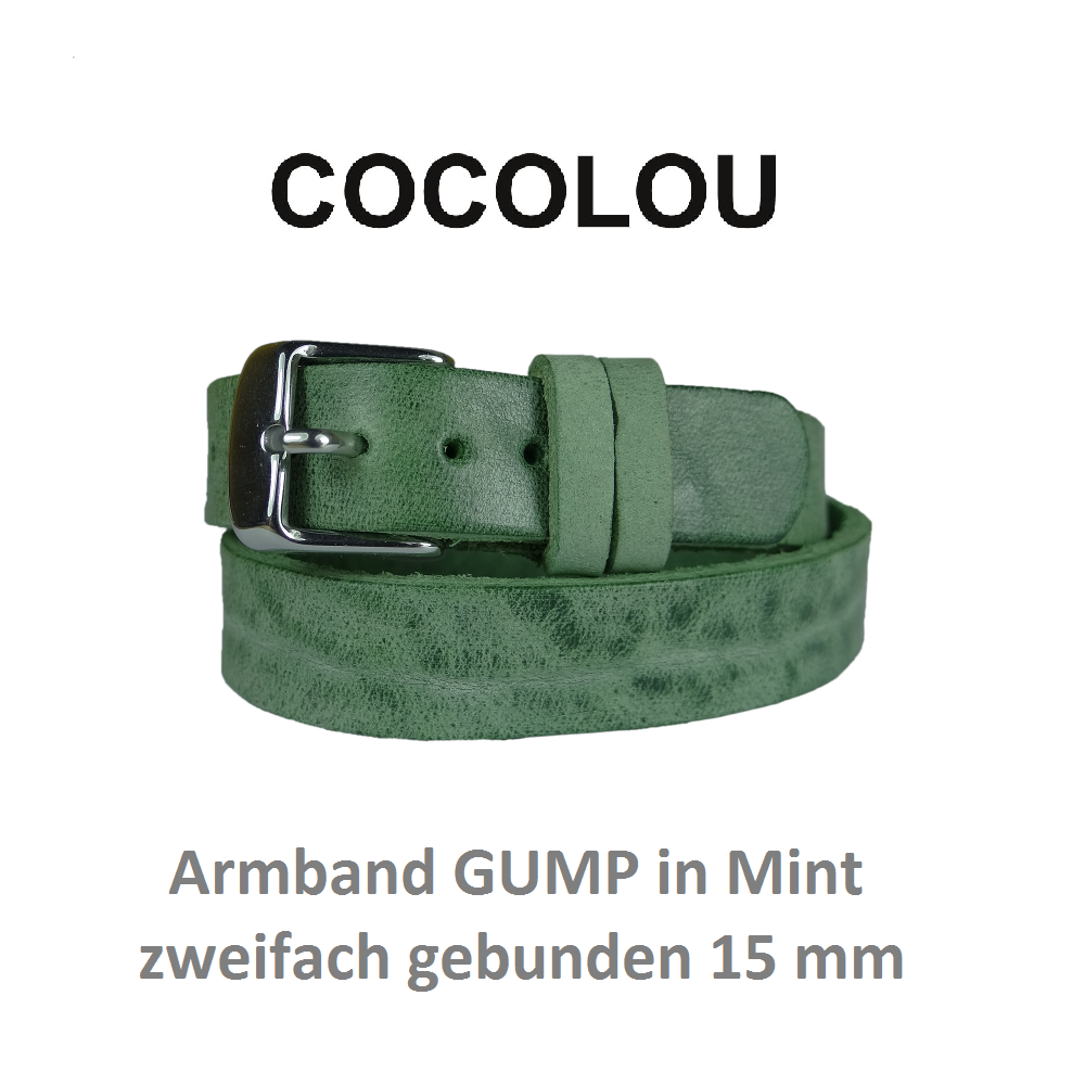 COCOLOU Armband GUMP in Mint