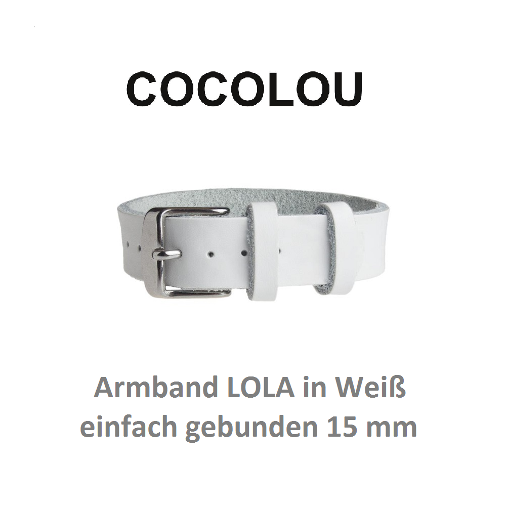 COCOLOU Armband LOLA in Weiß