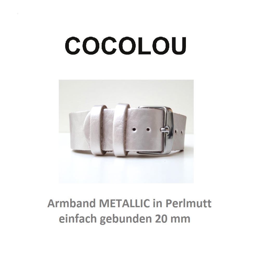 COCOLOU Armband METALLIC in Perlmutt 2 cm