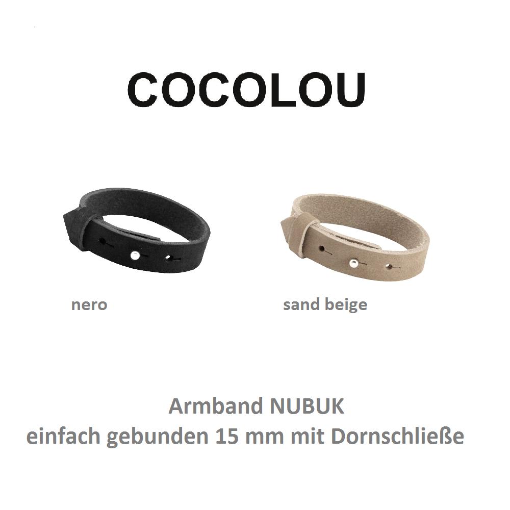 COCOLOU Armband NUBUK mit Dornschließe 15mm