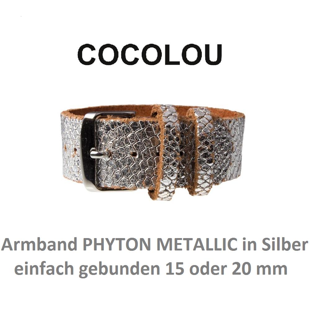 COCOLOU Armband PHYTON in Silber Metallic