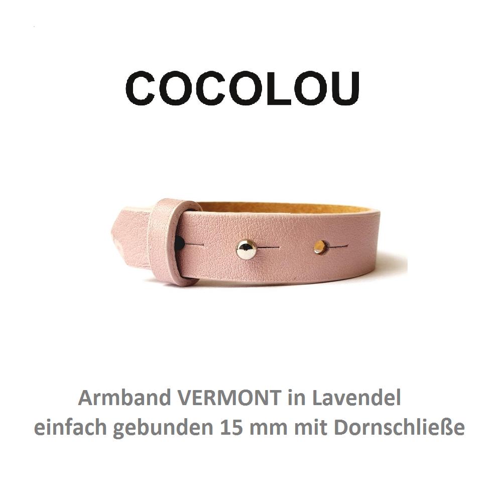 COCOLOU Armband mit Dornschließe VERMONT Lavendel 1,5 cm