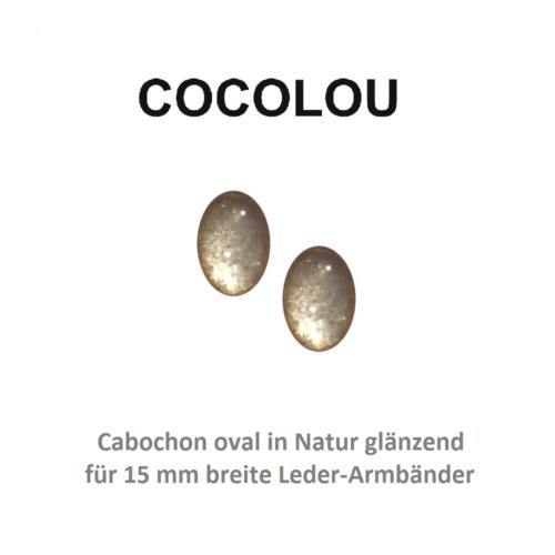 COCOLOU Cabochon Oval Beige glänzend