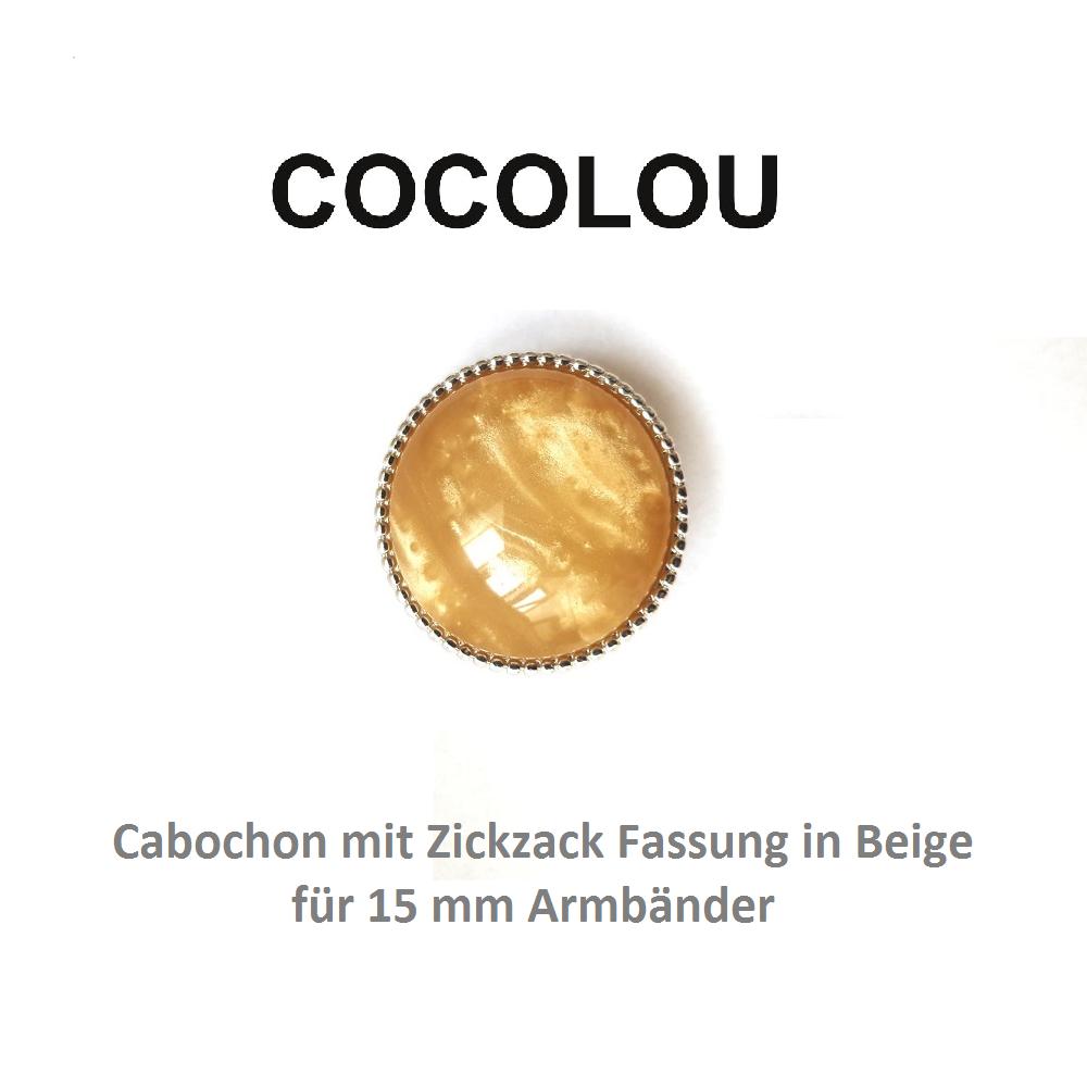 cocolou cabochon rund beige