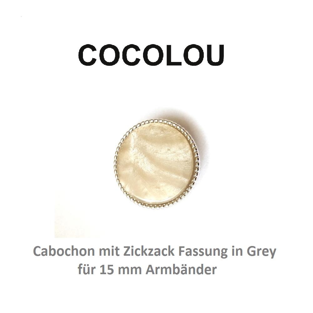 COCOLOU Cabochon Rund Grau
