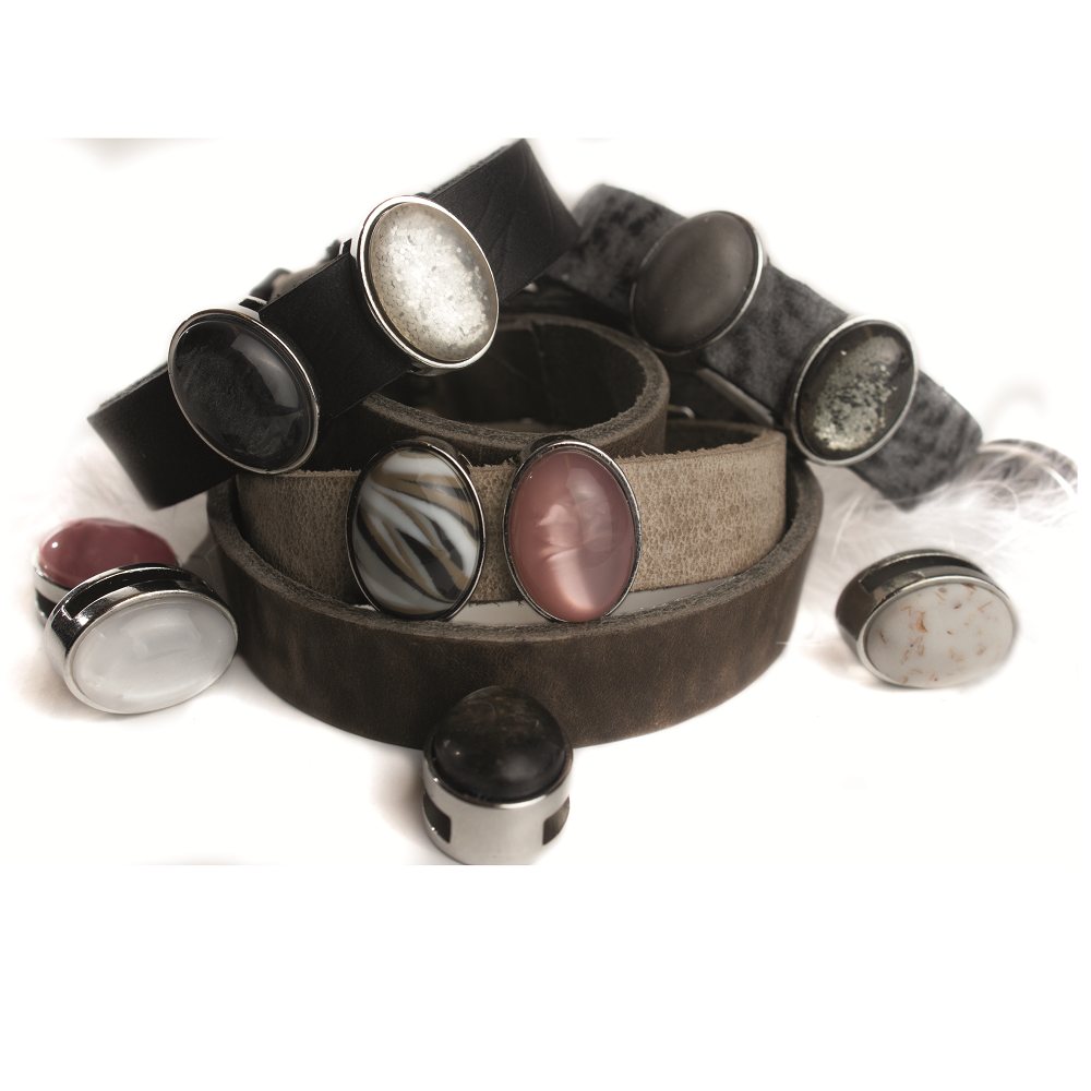 COCOLOU Armband CALVADOS in Taupe
