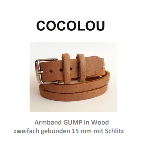 COCOLOU Armband GUMP in Wood