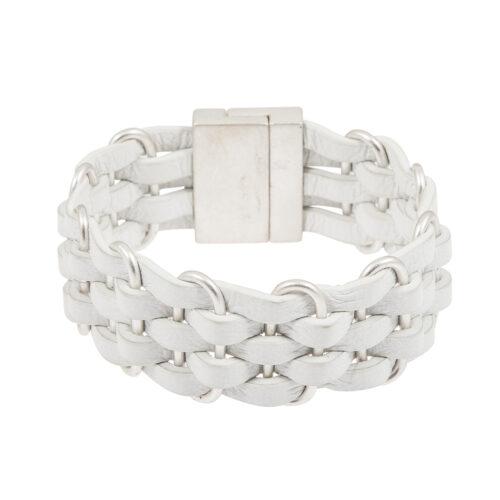 Sence Copenhagen Armband Wave Leder in Weiß (Z884)