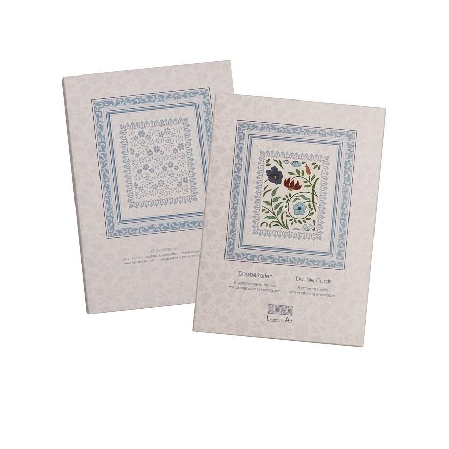 Lazzaro Art Kartenschachtel mit 8 Doppelkarten