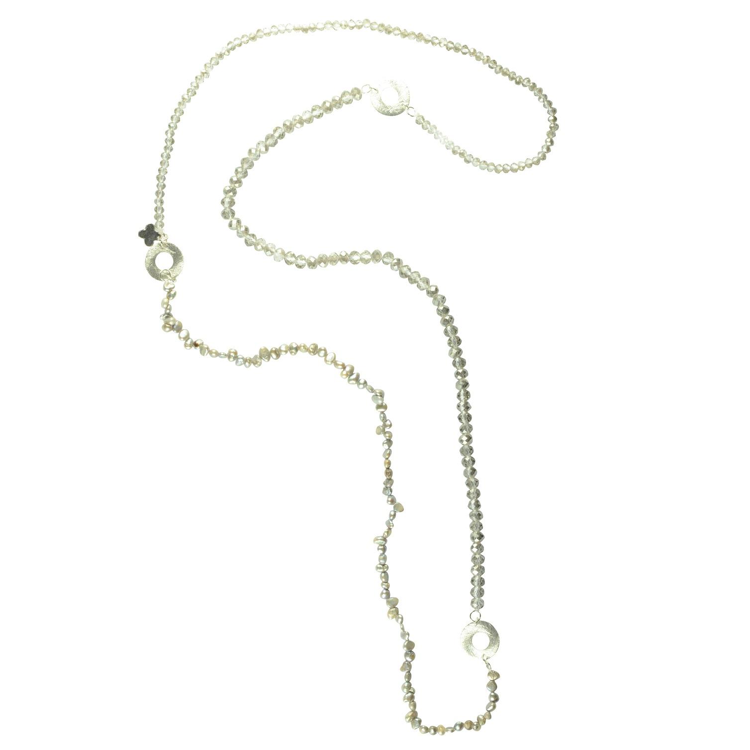 LUMISHA Material-Mix Kette Silber