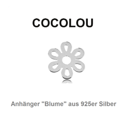 COCOLOU Anhänger Blume in Silber