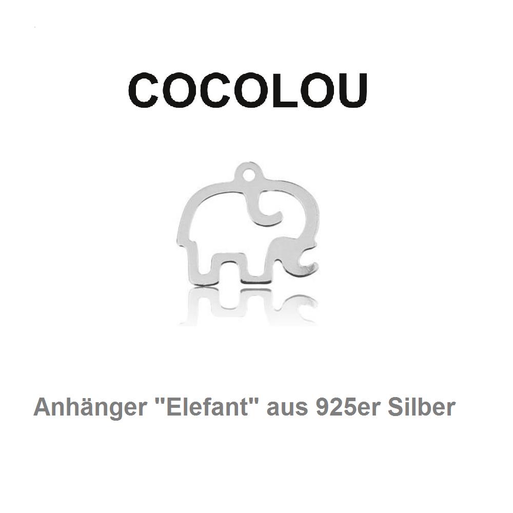 COCOLOU Anhänger Elefant in Silber