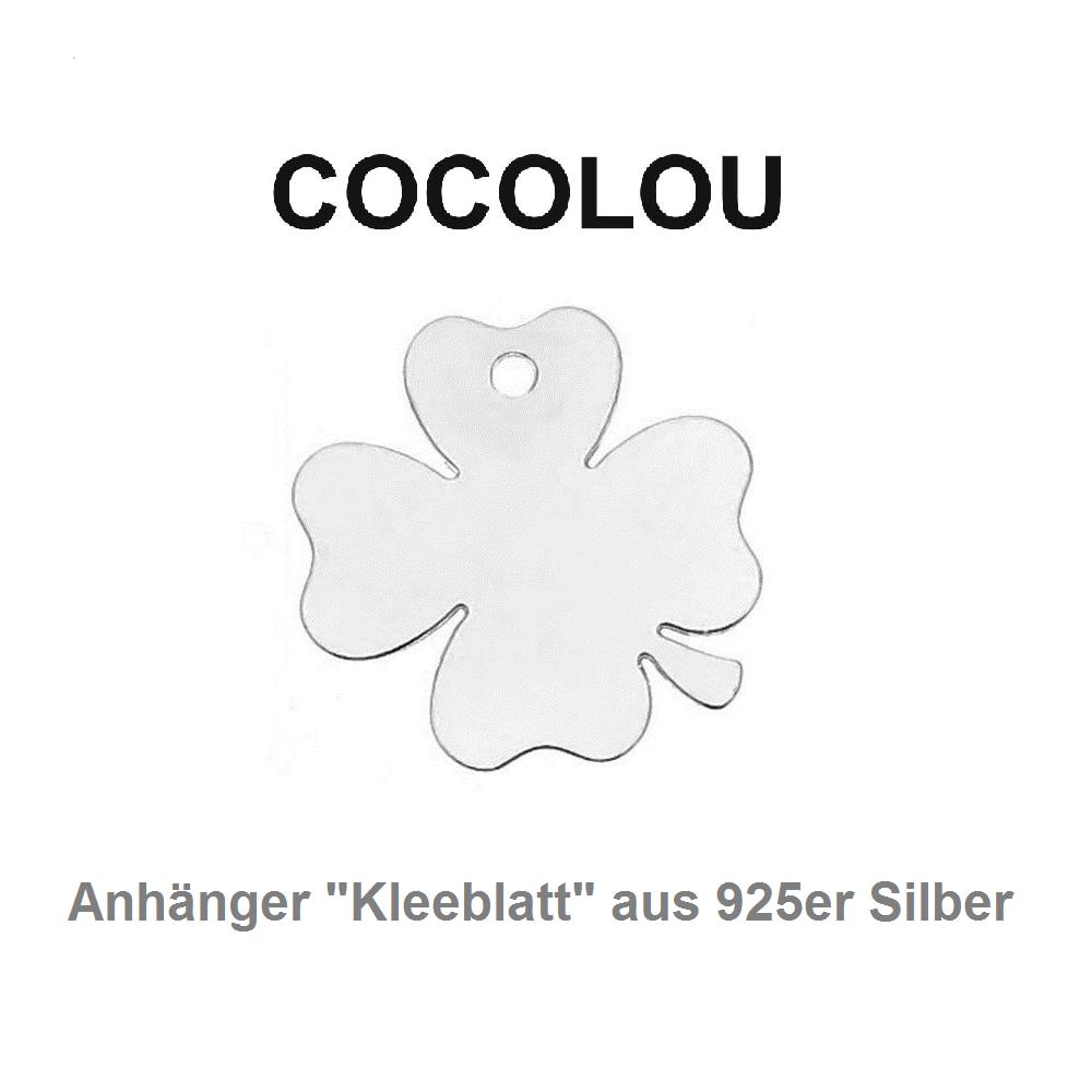 COCOLOU Anhänger Kleeblatt in Silber