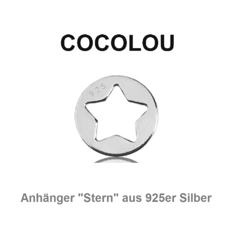 COCOLOU Anhänger Stern in Silber