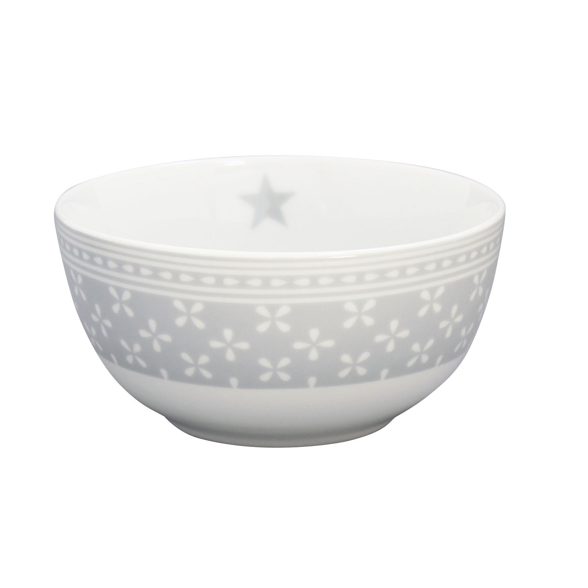 Krasilnikoff Schüssel Happy Bowl Daisy Grey